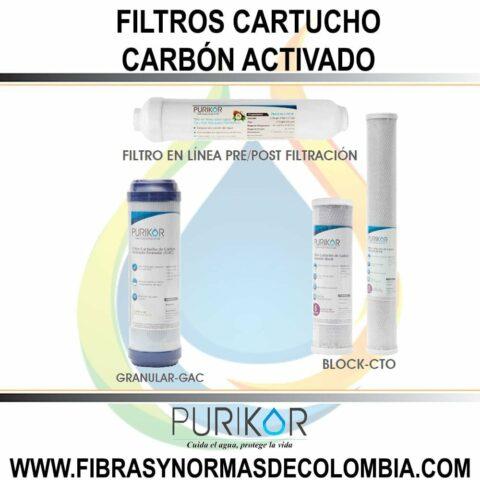 FILTROS CARTUCHO CARBON ACTIVADO